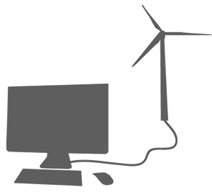 wind turbine powering PC
