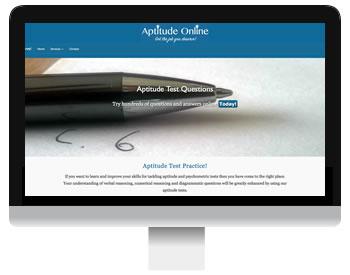 aptitude test screenshot
